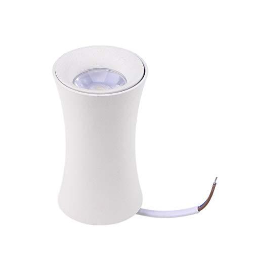 Uonlytech 220 V 5 W 3000 K LED COB Deckenflecken Röhrenlampe Deckenleuchte montados Downlight Weißes luz (negro)