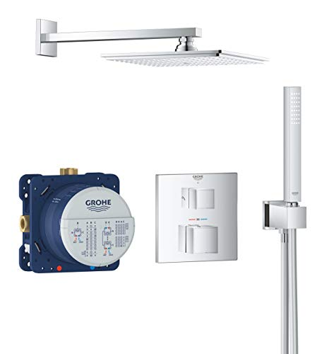GROHE Grohtherm Cube | Douchesysteem inbouw met Rainshower Allure 230 | chroom | 34741000