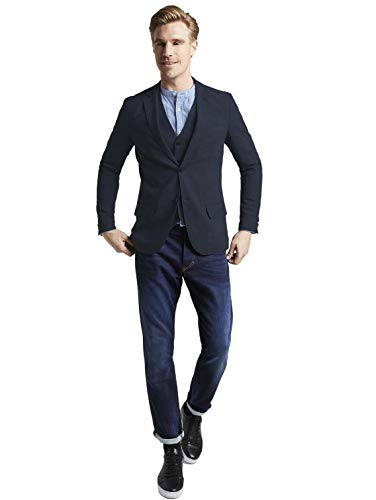 TOM TAILOR Herren Smart Blazer, Blau (Blau 20903), 48