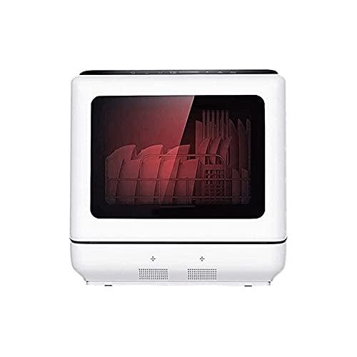 Sdesign Encimera portátil compacta con lavavajillas completamente automática, con configuración de 6 lugares y cesta de cubiertos, pantalla LED, panel a prueba de explosiones, ventana panorámica grand