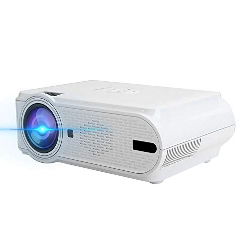 T angxi LED Video Projector, 720P/1080P Mini Wireless Same Screen LED Projector Home Cinema Center, USB/SD/HDMI/VGA/AV&TV Input Video Projector with Remote Control(White US)
