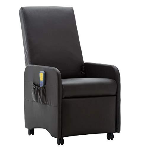 Sillón de masaje eléctrico, 5 funciones de masaje, 3 niveles de intensidad, masaje de 8 puntos, silla de piel sintética, spin libre y función de calefacción en la zona de la cintura 65 x 131 x 94 cm.