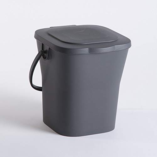 Why Should You Buy EDA 13119 G Compost Bucket 6 L with Lid, Polypropylene, Grey, Dim. : 24.8 x 23.8 ...