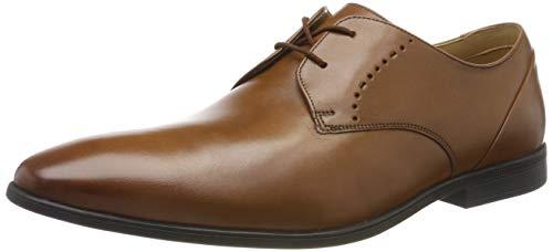 Clarks Bampton Lace, Zapatos de Cordones Brogue para Hombre, Marrón (Tan Tan), 40 EU