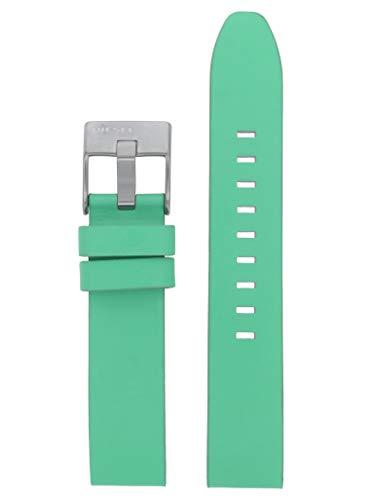 Correa de repuesto original LB-DZ5564 para reloj Diesel DZ5564, de piel, 18 mm, color turquesa