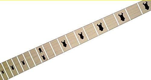 Warlock Headstock Fret Markers Pegatinas Diapason Guitarra Inlays Stickers (negro)