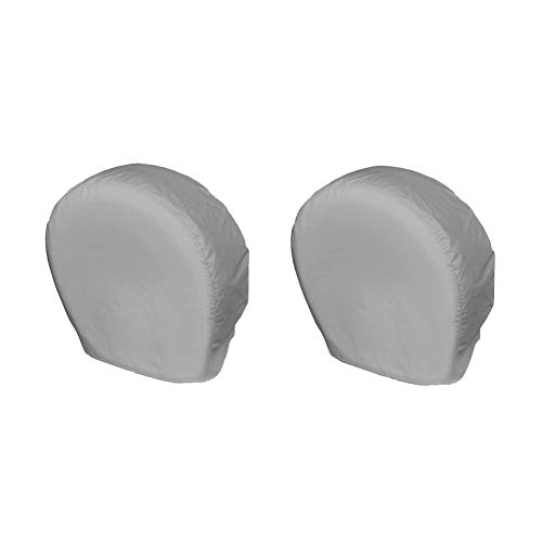 Explore Land Tire Covers 2 Pack - Tough Tire Wheel Protector For Truck, SUV, Trailer, Camper, RV - Universal Fits Tire Diameters 26-28.75 inches, Charcoal