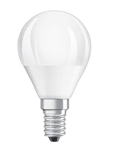 Osram LED SUPERSTAR Ampoule LED, Forme sphérique, Culot E14, Dimmable, 6W Equivalent 40W, 220-240V, dépolie, Blanc Chaud 2700K, Lot de 1 pièce