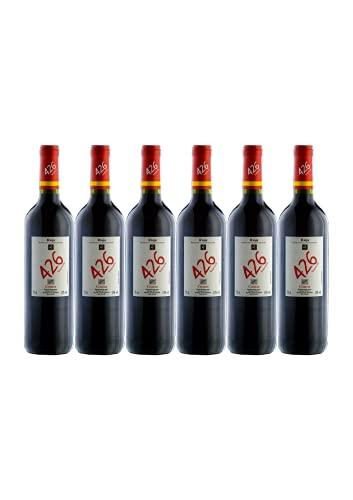 6 Botellas vino tinto crianza 426, añada 2018, D.O.Ca. RIOJA, 75 CL