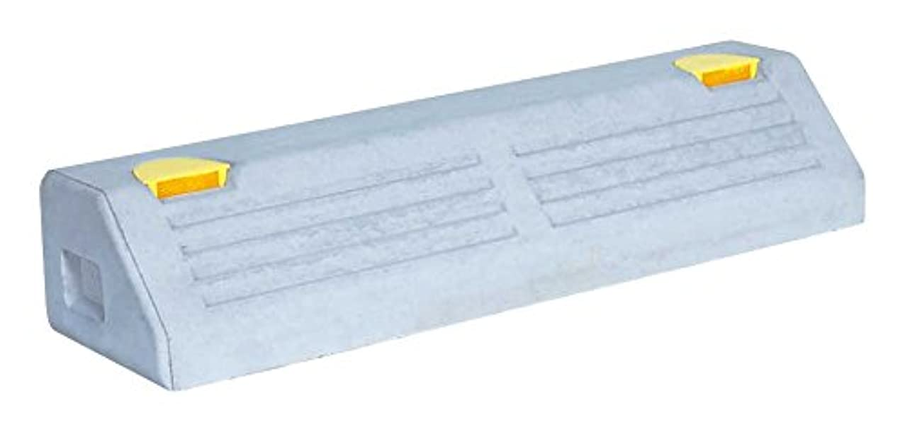 ポータル不十分ナンセンスNSP-120B アスファルトアンカー付 パーキングブロック 高120×幅180×長600mm