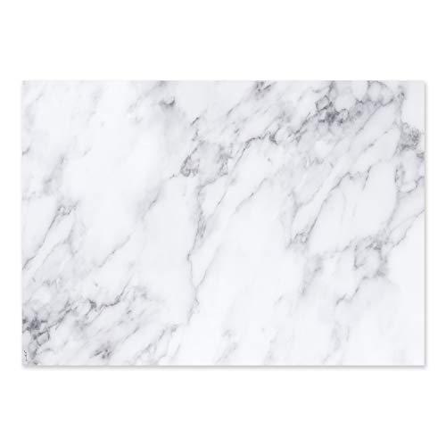 Schreibtischunterlage mit Marmor-Optik I dv_365 I DIN A3 I 25 Blatt I aus Papier zum Abreißen I Schreib-Unterlage neutral, modern, elegant I weiß grau