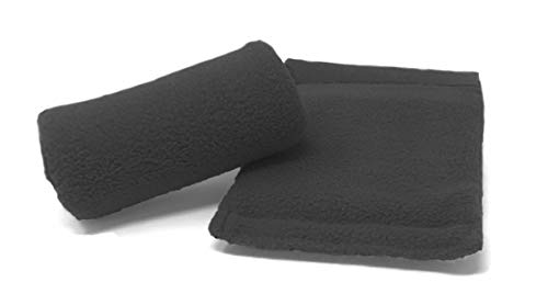 Universal Crutch Hand Grip Covers - Luxurious Soft Fleece with Sculpted Memory Foam Cores (Black) …