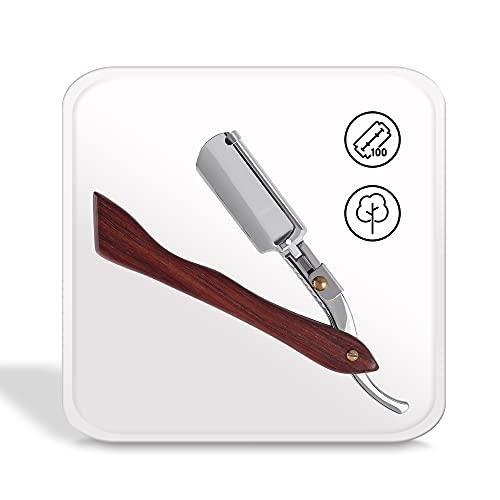 My-Blades® das Profi Rasiermesser mit Holzgriff und Wechselklinge im Set mit 100 nachhaltigen Doppelklingen