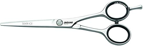 Jaguar Shears White Line Silver Ice 5.5 Inch Professional, Ergonomic, Steel Hair Cutting & Trimming Scissors for Salon Stylists, Beauticians, Hair Dressers and Barbers, Made in Germany