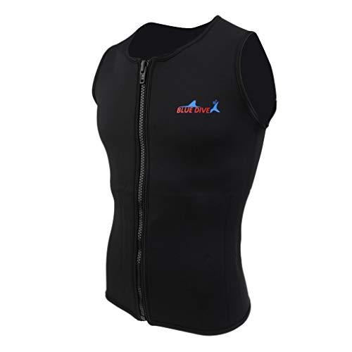 Inzopo Negro Hombres Mujeres 2mm Neopreno Chaleco Top Camisa Chaqueta Traje de Baño Equipo para Buceo Pesca Submarina Talla S M L XL XXL XL