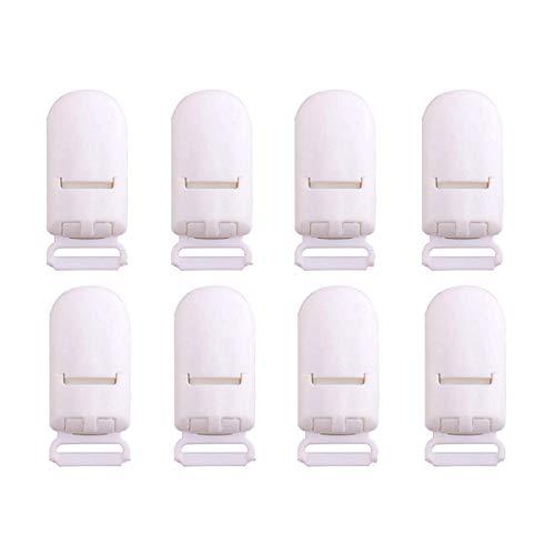 Mamimami Home ワンタッチクリップ 20個 白 ホワイト オーパル 固定 クリップ ホワイト カン付き 落下防止 帽子クリップ 紐調整に 長さ調整 多機能 汎用 安全 DIY アレンジ 手芸パーツ