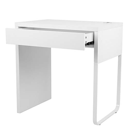 Escritorio para juegos de escritorio, escritorio de computadora con cajón para escribir para el hogar, estudio, oficina, uso doméstico