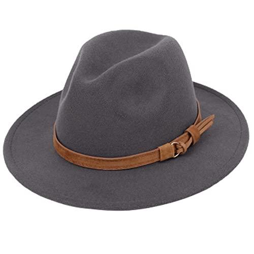 Mode Frauen Männer Breite Krempe Outback Hut Panama Jazz Hut Filz Fedora Hüte Cowboy Hut Schwarz Blau Rot Gelb Pink