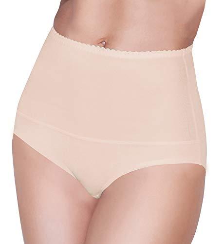 Damen figurenformend Miederslip mit Bauch-Weg-Effekt Stark Formend Miederpants Miederslip Damen Unterwäsche Große Größen (XL, Beige)