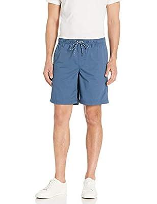 "Amazon Essentials Men's 8"" Inseam Drawstring Walk Short, Blue, Large"