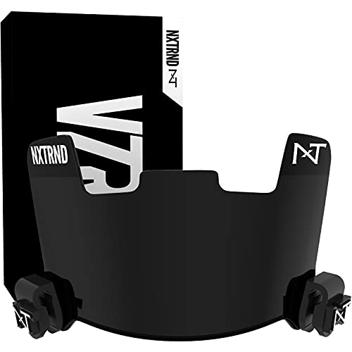 Nxtrnd VZR1 Tinted Football Visor, Professional Football Helmet Visor, Shield Fits Youth Football Helmets & Adult Football Helmets, Includes Visor Clips, Decal Pack, & Cleaning Cloth (Black)