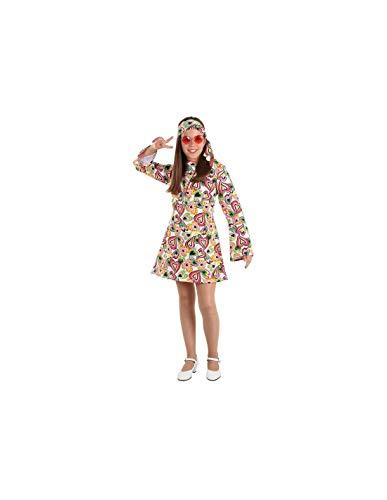 DISBACANAL Disfraz Hippie años 70 niña - -, 8 años