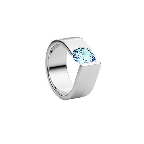 Heideman Ring Damen Maxime XL aus Edelstahl Silber farbend poliert Damenring für Frauen mit Swarovski Stein Zirkonia