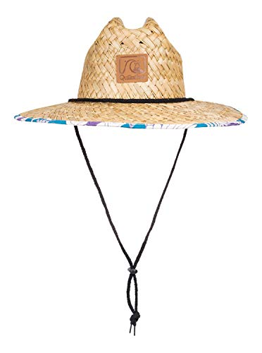 Quiksilver Men's Outsider Straw Sun Protection Hat, Snow White, L/X-Large