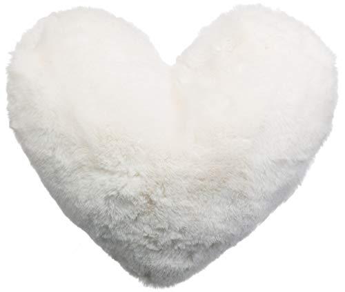 Brandsseller Cojín con forma de corazón, 40 x 30 cm, color crema