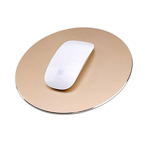 Delmkin Unisex-Youth, Gold-220220mm, Mauspad Aluminium Pad Laptops Mouse Pad-220220mm (Gold)