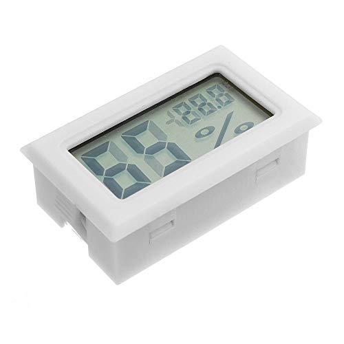 MUCHENG ZI Batterie-Tester 3 Stücke Mini Digital LCD Digital Hygrometer Thermometer Kühlschrank Gefrierschrank Temperatur-Und Feuchtigkeitsmessgerät Weiß