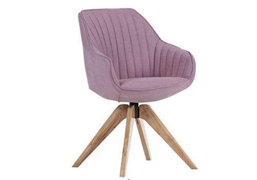 Sessel in rosa mit Holzgestell