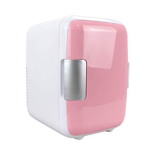 MQYZS Minibar, Mini Nevera, Nevera para Bebidas, Bajo Consumo, Muy silenciosa, compacta, aislada, Sistema de enfriamiento termoeléctrico,4 litros de Capacidad,35 dB,Rosado