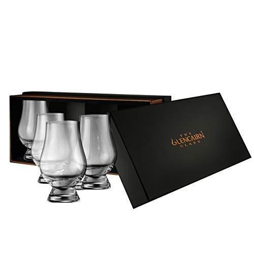 Glencairn Whisky Glass: Set of 4 in Deluxe Velvet Gift Box by Glencairn