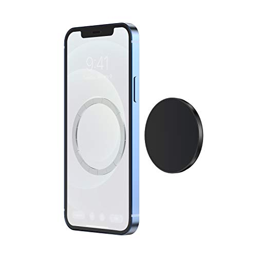 TechMatte MagGrip Sticky Magnetic Wall Mount, Phone Stand Holder Compatible with iPhone iPhone 12, Pro, Pro Max and Mag-Safe Case, Strong Magnet Phone Accessories