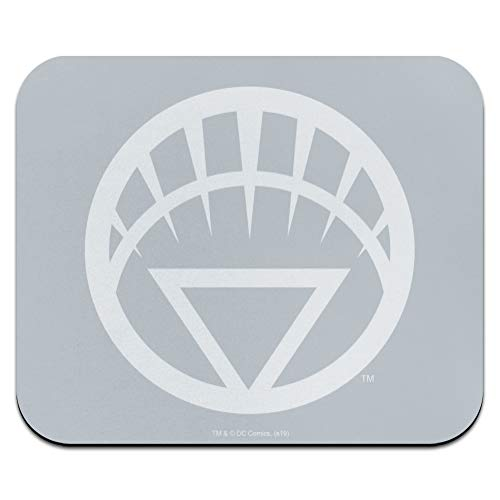 Green Lantern Blackest Night White Lantern Logo Low Profile Thin Mouse Pad Mousepad