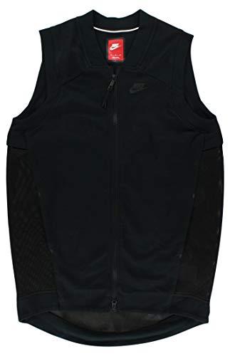 NIKE Womens Bonded Mesh Sweatshirt Black S