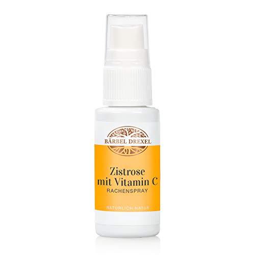 BÄRBEL DREXEL® Zistrose mit Vitamin C Rachenspray (30ml) 100% Natürliche Herstellung Deutschland Vitamin C + Thymian und Eukalyptus