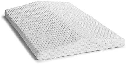 ComfiLife Lumbar Support Pillow for Sleeping Memory Foam Pillow for Back Pain Relief – Side, Back and Stomach Sleepers– Triangle Wedge Bolster Pillow – Bed Rest Pillow (White, Standard)