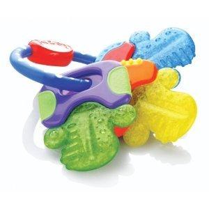enfant jeu Nuby Icybite Hard/Soft Teeting Keys - Multiple Teething Surfaces Aid For Strengthening of New Teeth jouet joujou