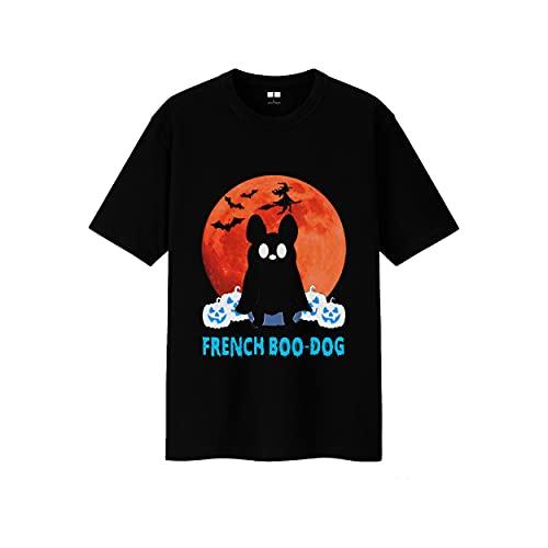 Halloween Dog Shirt French Bulldog Boo T-Shirt Boo Dog Tee Birthday Gift (Black-M)