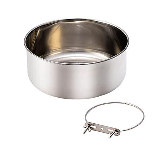 ペットボウル オウムボール ステンレス製 インコ 鳥 バード 食器 水入れ 餌入れ フードボウル ゲージアクセサリー (L)