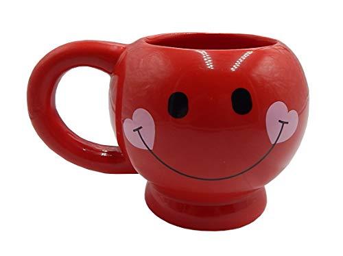 Rote Smiley-Tasse – Happy Face Kaffeetasse Smiley Tasse