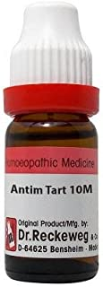 Dr. Reckeweg Antimonium Tartaricum 10M CH (11ml)- Pack Of 1 Bottle & (Free St. George's COF MIX - An Ideal Remedy for COUG...