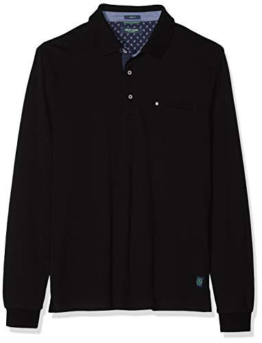 Pierre Cardin Longsleeve Polo Interlock Camiseta Cuello Alto para Hombre