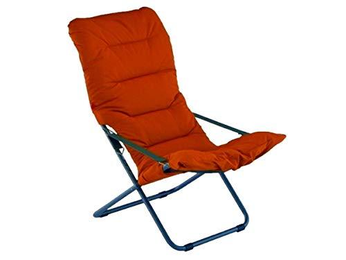 Fiam Liegestuhl Soft Art. 127S Farbe Gestell anthrazit und gepolstert orange