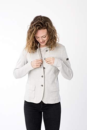 super.natural Veste légère pour femme en laine mérinos L Gris clair chiné