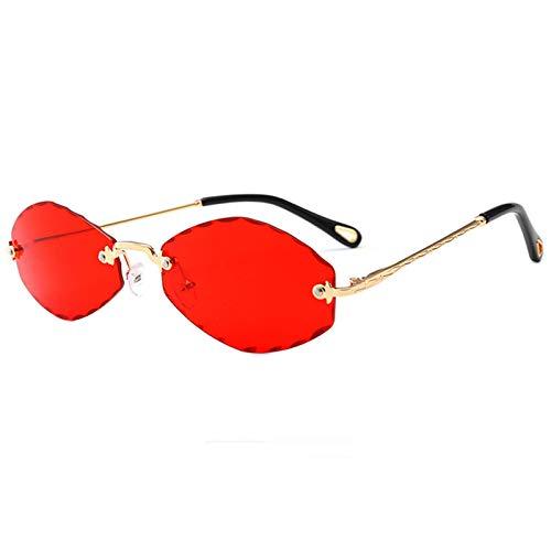 OGOBVCK Sin montura de gafas de sol gafas de colores transparentes de color caramelo para hombres mujeres (Red)