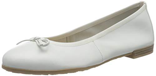 MARCO TOZZI 2-2-22100-34, Ballerine Donna, Bianco (White 100), 39 EU