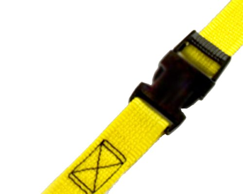 "PROGRIP 502580 Light Duty Cargo Tie Down Lashing Strap with Yellow Webbing: Side Release Buckle, 9' x 1"" (Pack of 2)"